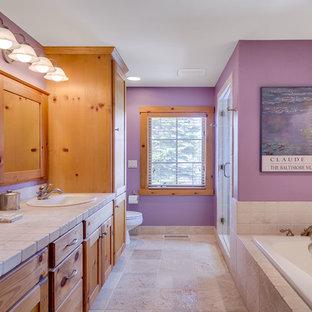 Foto di una stanza da bagno padronale mediterranea
