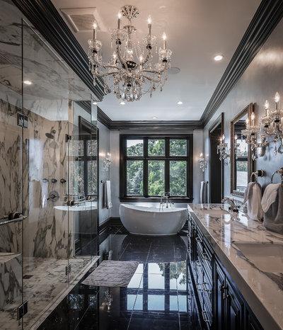 American Traditional Bathroom by Moore Designs Inc