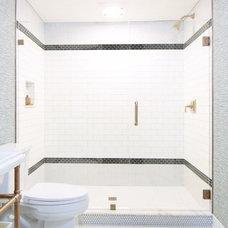 Eclectic Bathroom by Natalie Clayman Interior Design