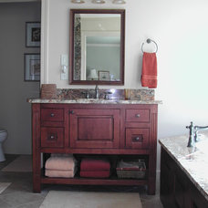 Traditional Bathroom by Old Mill Cabinet Co.