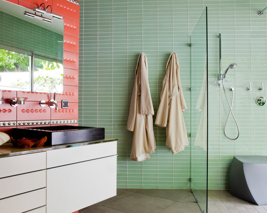 Bathroom Glass Subway Tile bathroom glass tile | houzz