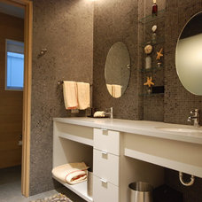 Contemporary Bathroom by Priebe's Creative Woodworking
