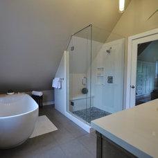 Contemporary Bathroom by Rhonda Moscoe Interior Design