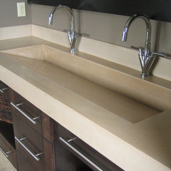 modern bathroom vanities and sink consoles by Sculptural Design Inc.