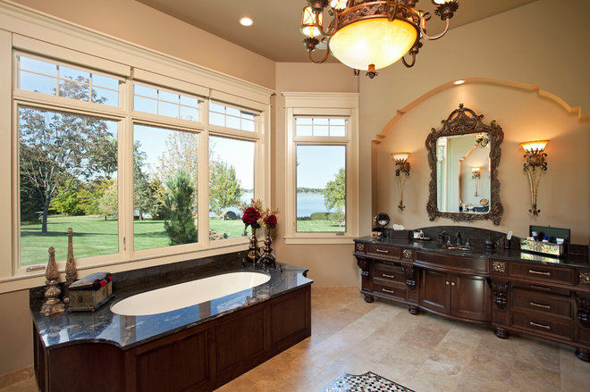 Traditional Bathroom by Granite Tops
