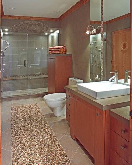 Contemporary Bathroom by Terry Ellis, ASID - Room Service Interior Design