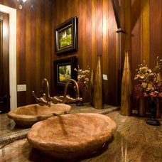 Eclectic Bathroom by The Leland Group