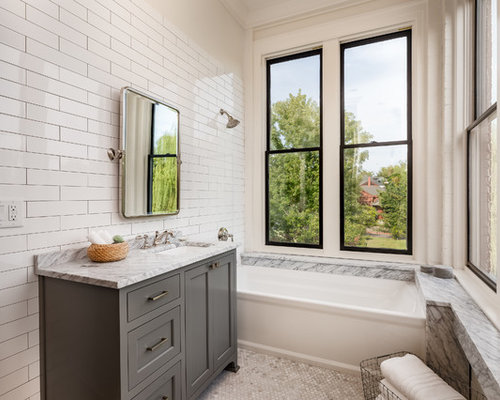 Bathroom Design Inspiration nice small family bathroom ideas in home decorating plan with pretty design ideas family bathroom ideas renovation small design Bathroom Transitional 34 White Tile Mosaic Tile Floor And White Floor Bathroom Idea