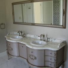 Transitional Bathroom by Triton Stone