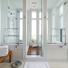 Transitional Bathroom by Virtual Studio Innovations