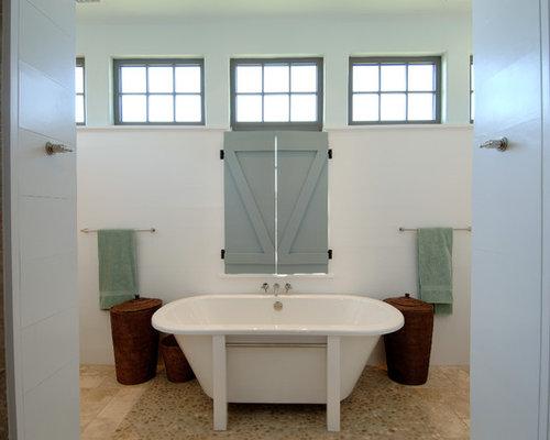 Landhausstil badezimmer mit kieselfliesen ideen design for Badezimmer justin