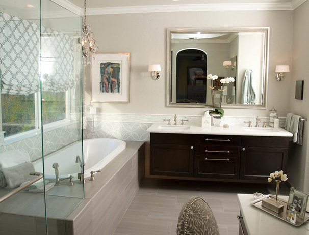 Transitional Bathroom by Le Reve Design & Assoc.