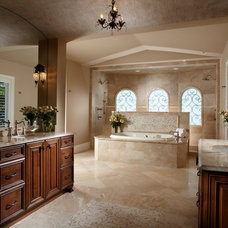 Mediterranean Bathroom by The Lykos Group, Inc.