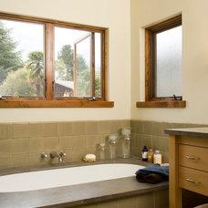 Mediterranean Bathroom by Zak Johnson Architects