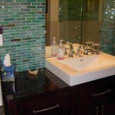 Beach Style Bathroom by Columbia Tile & Marble Inc