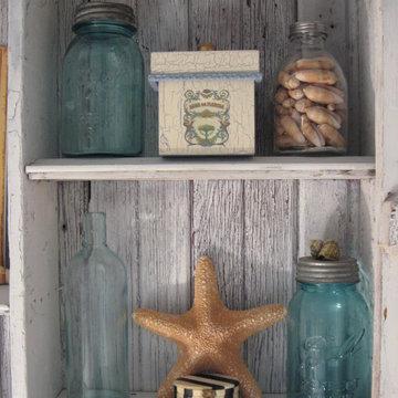 Beach Bathroom shabby cabinet- southernhospitality