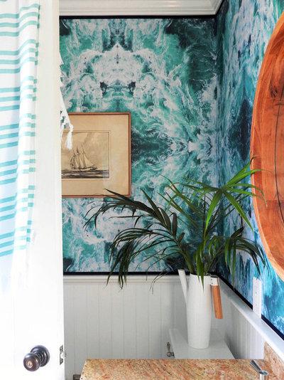 Beach Style Bathroom by Natasha Habermann Studio
