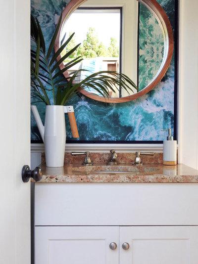 Fresh Beach Style Bathroom by NATASHA HABERMANN STUDIO