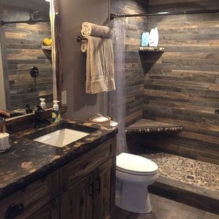 75 Beautiful Rustic Master Bathroom Pictures Ideas January 2021 Houzz