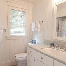 Beach Style Bathroom by Sykora Home Design