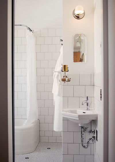Eclectic Bathroom by Blue Sound Construction, Inc.