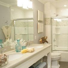 Beach Style Bathroom by Larson Gatsch Interiors