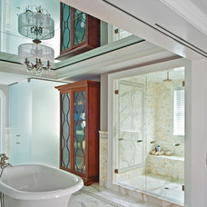 beach style bathroom by New York Shower Door