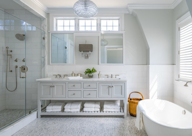 Traditional Bathroom by Nina Farmer Interiors