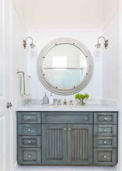 Coastal Bathroom by Laura U Interior Design
