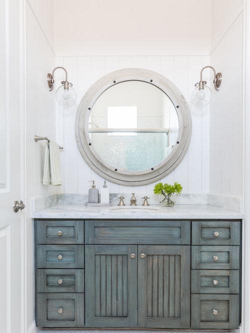 maritime badezimmer ideen f r die badgestaltung houzz. Black Bedroom Furniture Sets. Home Design Ideas