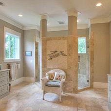 Transitional Bathroom by Palmetto Cabinet Studio