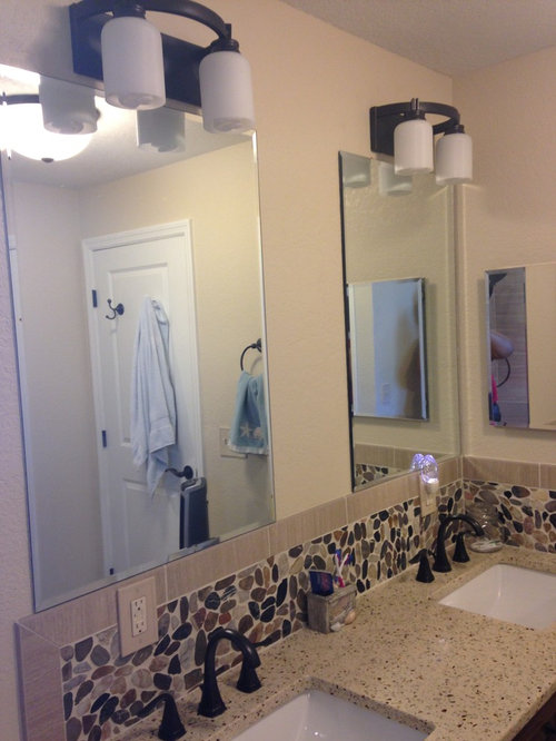 Lowes Bathroom Design Ideas Remodels Photos With Recycled Glass Countertops