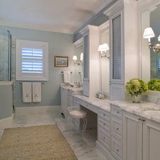 Traditional Bathroom by Studio M Interior Design, Inc.