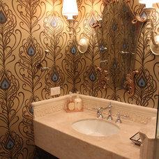 Beach Style Bathroom by Lisa Wolfe Design, Ltd