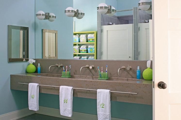 Beach Style Bathroom by BDR Executive Custom Homes