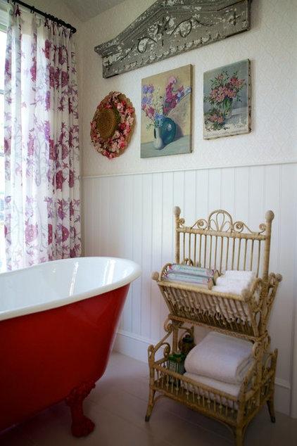 beach style bathroom by Alison Kandler Interior Design