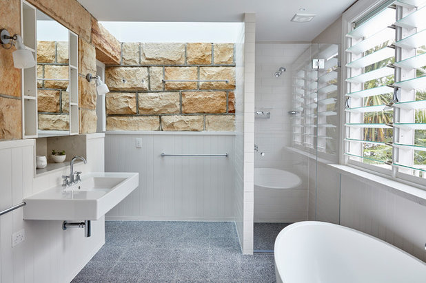 Beach Style Bathroom by Bentley Design