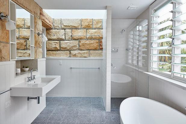 Coastal Bathroom by Bentley Design