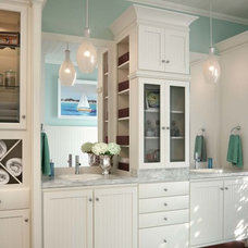 Beach Style Bathroom by Cabinetry by Cales, Inc