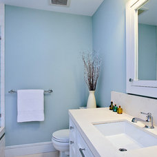beach style bathroom by Melissa Lenox Design