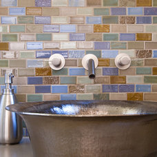 Beach Style Bathroom by Mercury Mosaics and Tile