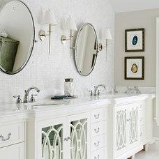 Beach Style Bathroom by Noelle Micek Interiors