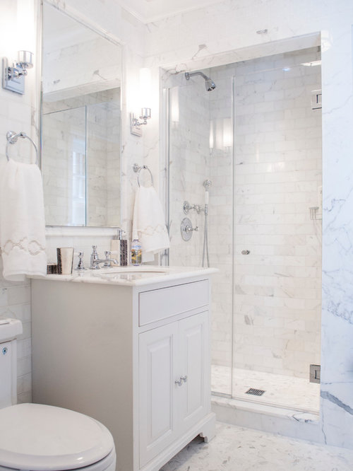 Small white bathroom houzz for White bathroom ideas