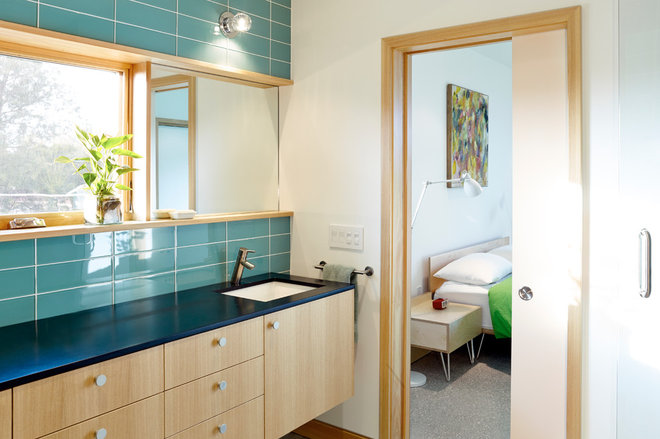 Beach Style Bathroom by Traction Architecture