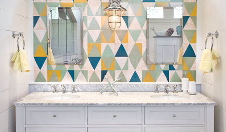 Trending Now: A Shot of Color in the Bathroom