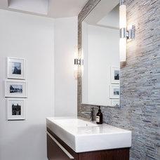 Transitional Bathroom by Rad Design Inc
