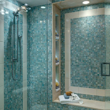 Beach Style Bathroom by LAURA MILLER, ASID, NCIDQ: INTERIOR DESIGN