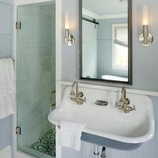 Transitional Bathroom by Schippmann Design