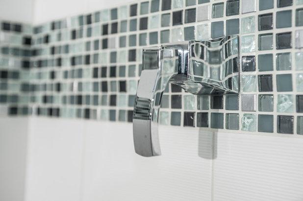 Contemporary Bathroom by Kayron Brewer, CMKBD / Studio K B