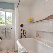 Beach Style Bathroom by Hamilton-Gray Design, Inc.